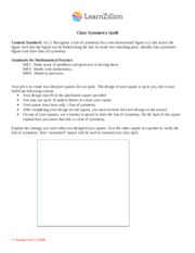 Line of Symmetry Performance Task-2