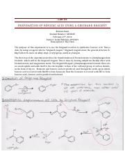 Lab Report #4 - Preperation of Benzoic Acid Using a Grignard Reagent.docx