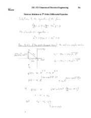 NOTES- 2nd Order Differential Equations