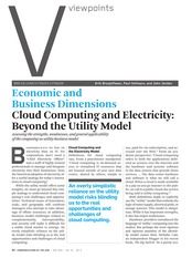 2. Economic and Business Dimensions – Cloud Computing and Electricity Beyond the Utility Model