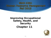 Chapter 11 - Improving Occupational Safety, Health, and Security