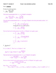 Exam 1 solutions (non-calculator portion)