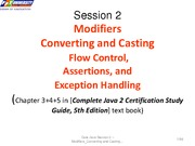 Session2-Modifiers-Flow-Exception