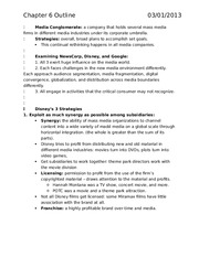 Chapter Outlines 6-11