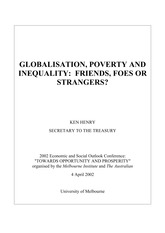 Globalization, Poverty and Inequality (Henry Ken)