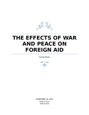 the effects of war and peace on foreign aid essay