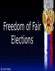 Freedom of Fair Elections Slideshow.pptx