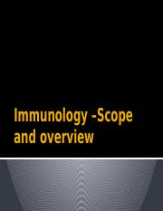 Immunology –Scope and overview.pptx