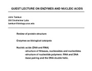 enzyme and nucleic acid lecture