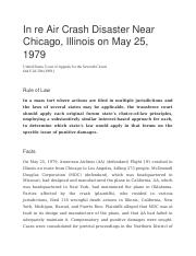 In re Air Crash Disaster Near Chicago.docx