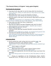 Eng.- The General History of Virginia Study Guide.docx