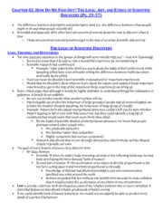 Chapter 2 - Logic of Scientific Discovery - Study Notes