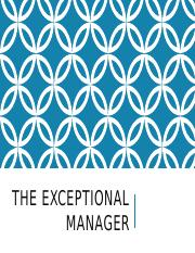 The Exceptional Manager.pptx