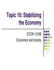 Topic 10. Stabilizing the Economy.pdf