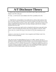 AT Disclosure Theory.docx