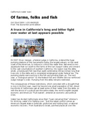 320-California's Water Wars - Of farms, folks and fish