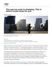 The way we work is changing