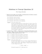 Solutions to Concept Questions 12