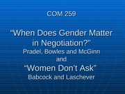 Women don't ask and when does gender matter in salary negotiation
