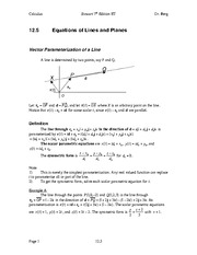Calculus Notes 7E 12.5