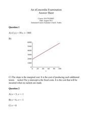 MATH 208 - SOLUTIONS