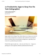 Pocket_ 20 Productivity Apps to Keep You On Task (Infographic)