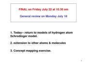 Tutorial 8 - Hydrogen Atom Review