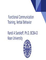 Fct 2 Pptx Functional Communication Training Verbal