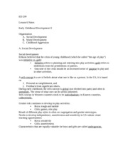 ED 299 Lesson 6 Notes