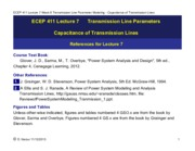 ECEP 411 Lecture7 Week 8 Transmission Line Parameters - Capacitance