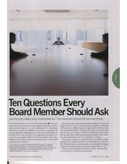 Ten Questions Every Board Member Should Ask Article