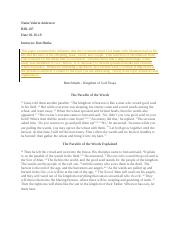 Sample Essays For High School  Pages Valerie Graded Kingdom Of God Essay V Andersondocx Essay On Importance Of English Language also What Is A Thesis Statement In An Essay Kingdom Of God Essaydocx  Jennifer Tucker Bib Dan Henke The  An Essay On Science