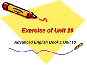 Exercise of Unit 10-1
