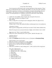 9Lecture Nine Mass Wasting Study Guide
