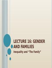 OUTLINE Lecture16 Gender and the Family edited.pptx