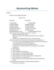 Accounting Notes Ch.2