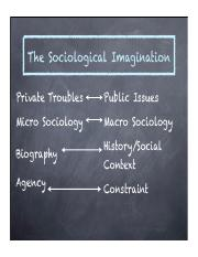 Friendship Diversity & Sociological Imagination Slides