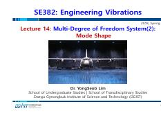 Lecture 14_Multi-Degree of Freedom System(2)-Mode Shape_180503.pdf
