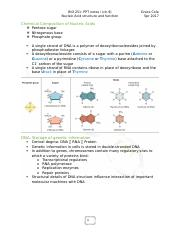 BIOL 251 notes i - ch.9 Nucleic Acid structure and function