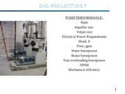 EML4600 lecture on fans and pumps