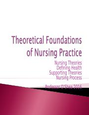 theoretical foundation in nursing Theoretical definition, of, relating to, or consisting in theory not practical (distinguished from applied) see more.
