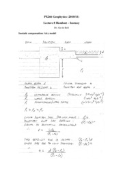Geophysics, Lecture Notes- Physics - Prof Gavin Bell 5