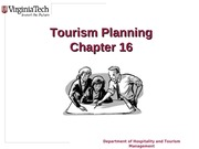 Chapter 16 Tourism Planning