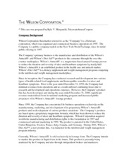 Case 1 - The Wilson Corporation
