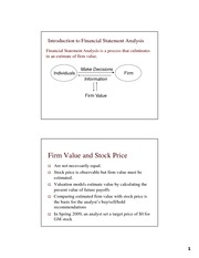 Intro to Financial Statement Analysis