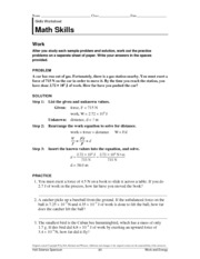 Printables Science Skills Worksheet Answers holt science spectrum 84 work and energy math physical s