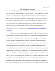 Yang Jisheng's Final Instructions Essay