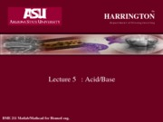 Lecture 9 and 10 acidbase