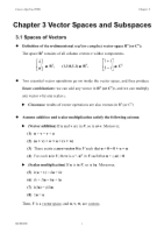 2009.10.13 Chapter3A Vector spaces & subspaces