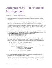 Assignments FinMgmt - Chp 11 Solutions